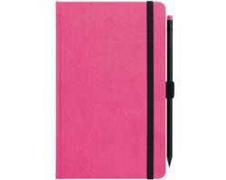Poznámkový linkovaný notes G-Notes No.1, 13x21cm - růžová