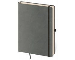 Poznámkový čistý blok Flexies Grey, 14x20cm - šedá