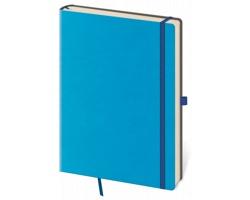Poznámkový linkovaný blok Flexies Blue, 9x14cm - modrá