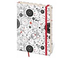 Poznámkový čtverečkovaný blok Vario, 14x20cm - design 9