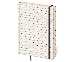 Poznámkový linkovaný blok Vario, 9x14 cm - design 5