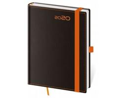 Týdenní diář Black Orange 2020 s poutkem, B6 - černá / oranžová