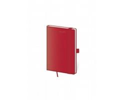 Kapesní týdenní diář Double Red 2021 s poutkem, 9x14 cm - červená