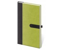 Kapesní týdenní diář Bora 2020, 8x15cm - zelená / černá