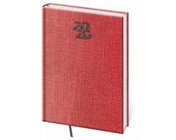 Týdenní diář Carpet 2020, A5 - červená