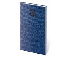 Kapesní týdenní diář Carpet 2020, 8x15cm - modrá