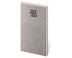 Kapesní týdenní diář Carpet 2020, 8x15cm - šedá