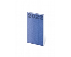 Kapesní týdenní diář Coco 2022, 8x15 cm - modrá