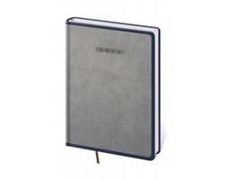 Denní diář Elegant 2021, A5 - šedá / modrá