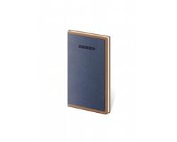 Kapesní týdenní diář Elegant 2022, 8x15 cm - modrá / hnědá