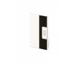 Kapesní týdenní diář Erie 2022, 8x15 cm - černá / bílá