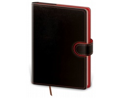 Denní diář Flip 2020, A5 - černá / červená