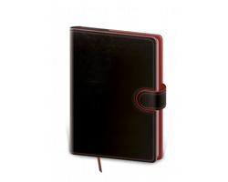 Denní diář Flip 2021, A5 - černá / červená