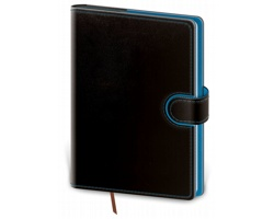 Denní diář Flip 2020, A5 - černá / modrá