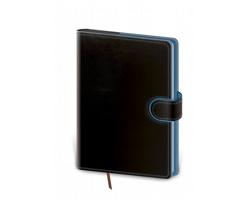 Denní diář Flip 2021, A5 - černá / modrá