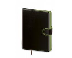 Týdenní diář Flip 2022, A5 - černá / zelená