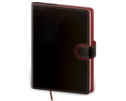 Denní diář Flip 2021, B6 - černá / červená