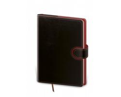 Denní diář Flip 2022, B6 - černá / červená
