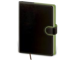 Denní diář Flip 2021, B6 - černá / zelená