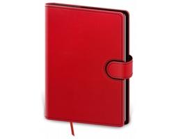 Denní diář Flip 2020, B6 - červená / černá