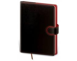 Kapesní týdenní diář Flip 2020, 9x14cm - černá / červená