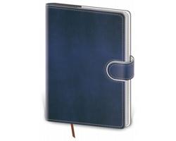 Kapesní týdenní diář Flip 2020, 9x14cm - modrá / bílá