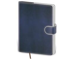 Kapesní týdenní diář Flip 2021, 9x14 cm - modrá / bílá