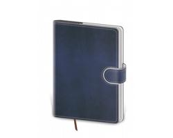 Kapesní týdenní diář Flip 2022, 9x14 cm - modrá / bílá