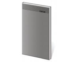 Kapesní týdenní diář Gommato 2020, 8x15cm - šedá
