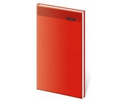Kapesní týdenní diář Gommato 2020, 8x15cm - červená