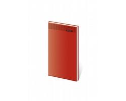 Kapesní týdenní diář Gommato 2021, 8x15 cm - červená
