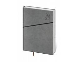 Denní diář Grife 2022, A5 - šedá / černá