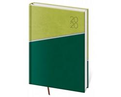 Denní diář Line 2020, A5 - zelená