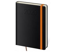 Denní diář New Praga 2020, A5 - černá