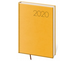 Denní diář Print 2020, A5 - žlutá