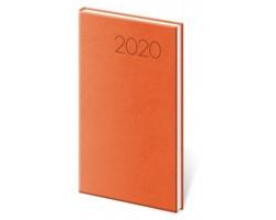 Kapesní týdenní diář Print 2020, 8x15cm - oranžová