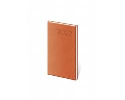 Kapesní týdenní diář Print 2022, 8x15 cm - oranžová