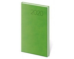 Kapesní týdenní diář Print 2020, 8x15cm - světle zelená