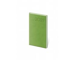 Kapesní týdenní diář Print 2021, 8x15 cm - světle zelená