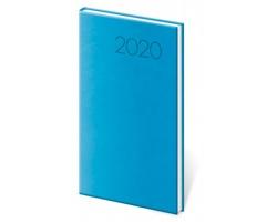 Kapesní týdenní diář Print 2020, 8x15cm - světle modrá
