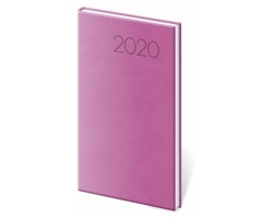 Kapesní týdenní diář Print 2020, 8x15cm - růžová