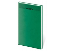 Kapesní týdenní diář Print 2020, 8x15cm - zelená