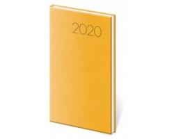 Kapesní týdenní diář Print 2020, 8x15cm - žlutá