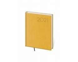Denní diář Print 2021, B6 - žlutá
