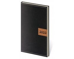 Kapesní týdenní diář Toledo 2020, 8x15cm - černá