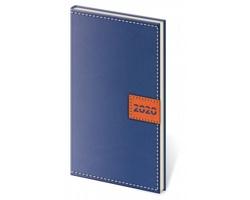 Kapesní týdenní diář Toledo 2020, 8x15cm - modrá