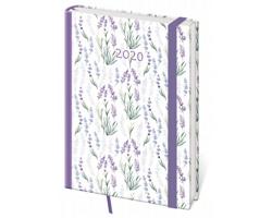 Denní diář Vario 2020 s gumičkou, A5 - lavender