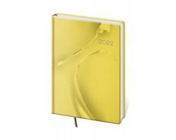 Denní diář Vario 2022, A5 - žlutý design