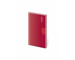Kapesní týdenní diář Vario 2021, 8x15 cm - červená