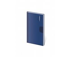 Kapesní týdenní diář Vario 2021, 8x15 cm - námořní modrá